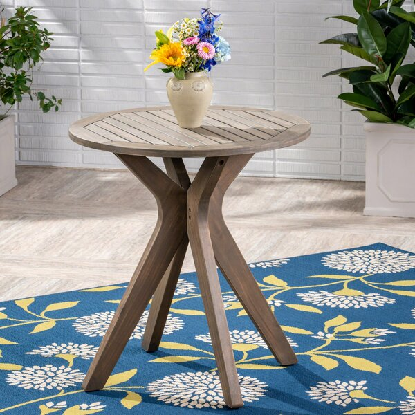 Pericles Outdoor Wooden Bistro Table by George Oliver