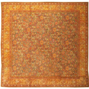 Axminster English Antique Red Area Rug by Nazmiyal Collection