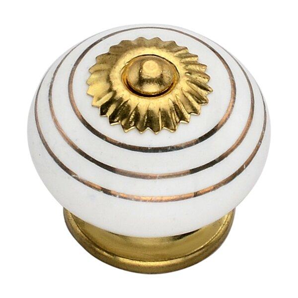 Handpainted Ringed Round Knob (Set of 8) by Mascot Hardware