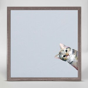 Sneaky Cat Framed Print on Canvas by Winston Porter