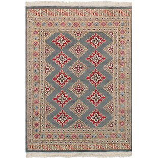 One-of-a-Kind Do Hand-Knotted Wool Gray Area Rug by Isabelline