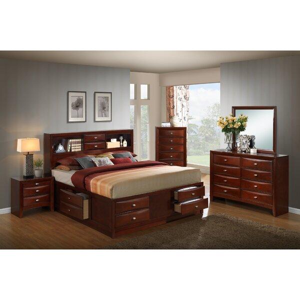 Red Barrel Studio Plumcreek Storage Panel 5 Piece Bedroom Set Reviews Wayfair
