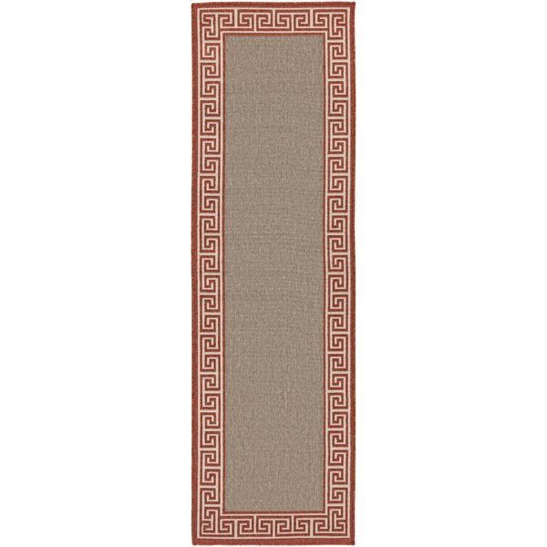 Pearce Rust/Taupe Indoor/Outdoor Area Rug by Charlton Home