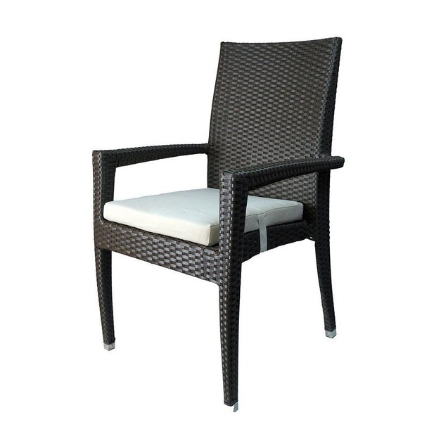 Venice Stacking Patio Dining Chair with Cushion (Set of 6) by Infinita Corporation