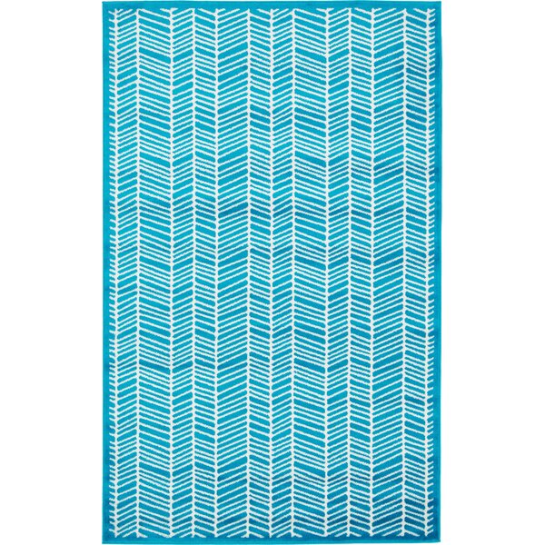 Maryrose Turquoise Area Rug by Zipcode Design