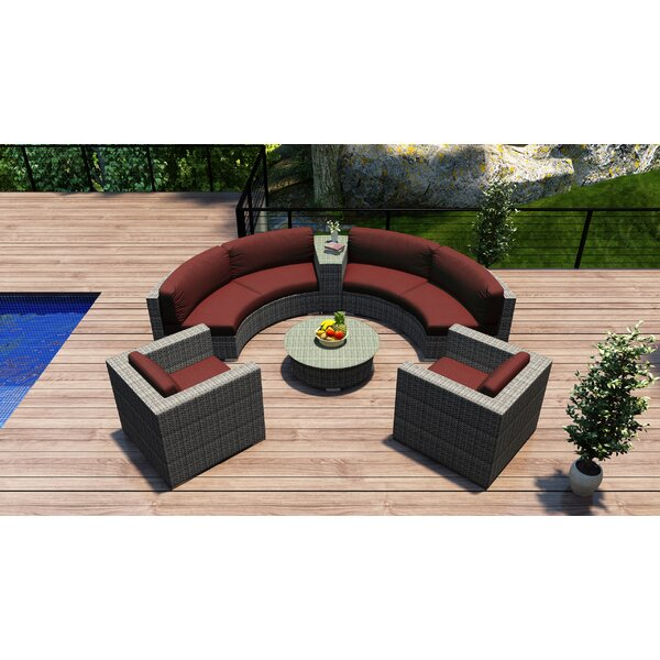 Hobbs 6 Piece Sunbrella Sofa Set with Cushions by Rosecliff Heights