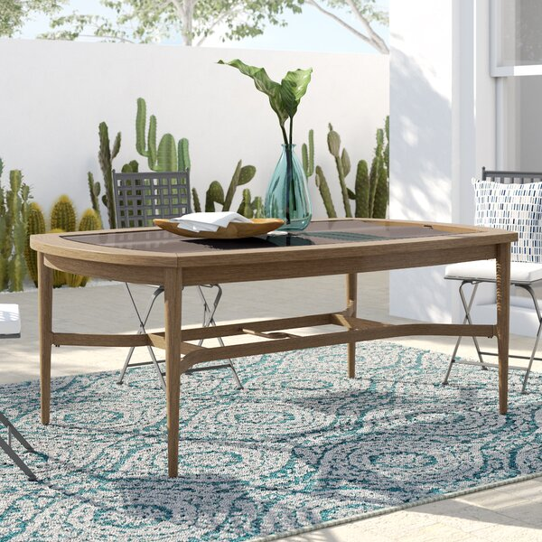 Predmore Glass Dining Table by Mistana