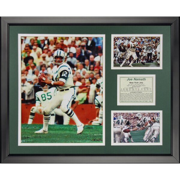 NFL New York Jets - Joe Namath Framed Memorabili by Legends Never Die