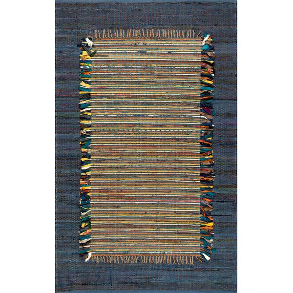Duppstadt Cotton Navy Area Rug by Bloomsbury Market