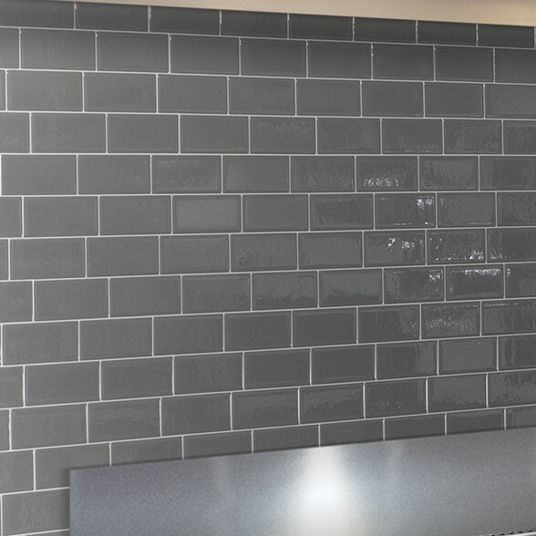 Mosaik Metro Grigio 11.56 x 8.38 Peel & Stick Subway Tile in Gray by Smart Tiles
