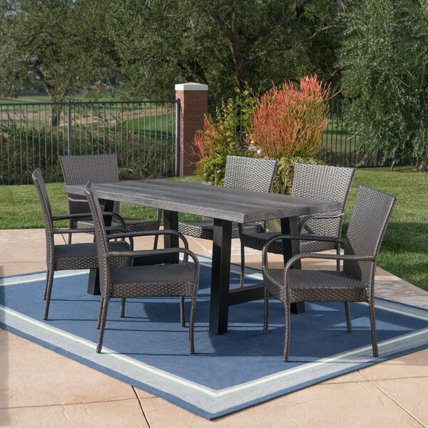 Grimmer Outdoor 7 Piece Dining Set by Williston Forge