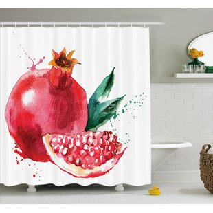 Compare prices Pomegranate Shower Curtain ByEast Urban Home