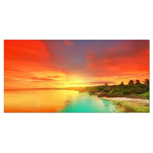 Beautiful Coastline in Philippines Photographic Print on Wrapped Canvas by Design Art
