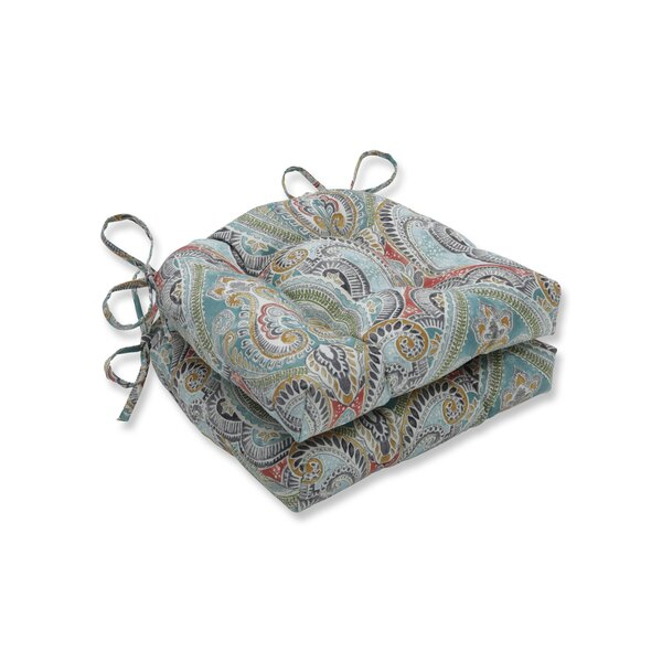 Pretty Witty Reef Reversible Indoor/Outdoor Dining Chair Cushion by Astoria Grand