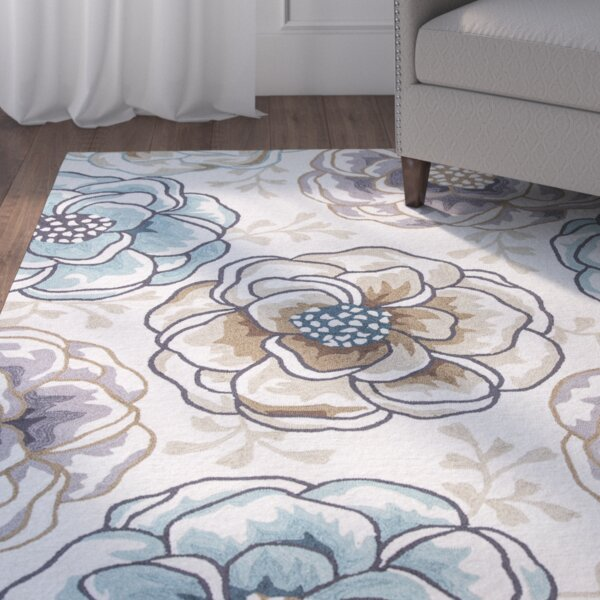 Hermina Hand-Hooked Ivory Area Rug by Andover Mills