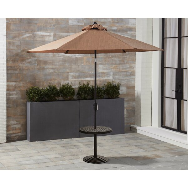 Dominquez Cast-Top Umbrella Aluminum Side Table by Darby Home Co