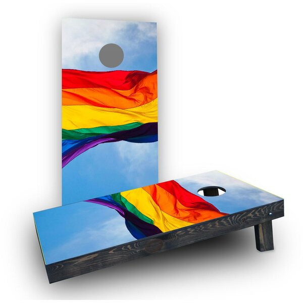Gay Pride Rainbow Flag Cornhole (Set of 2) by Custom Cornhole Boards