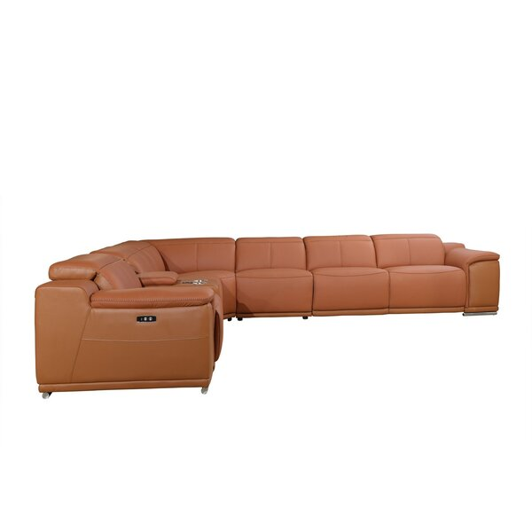 Waldorf 7 Piece 4-Power Symmetrical Reclining Sectional By Global United