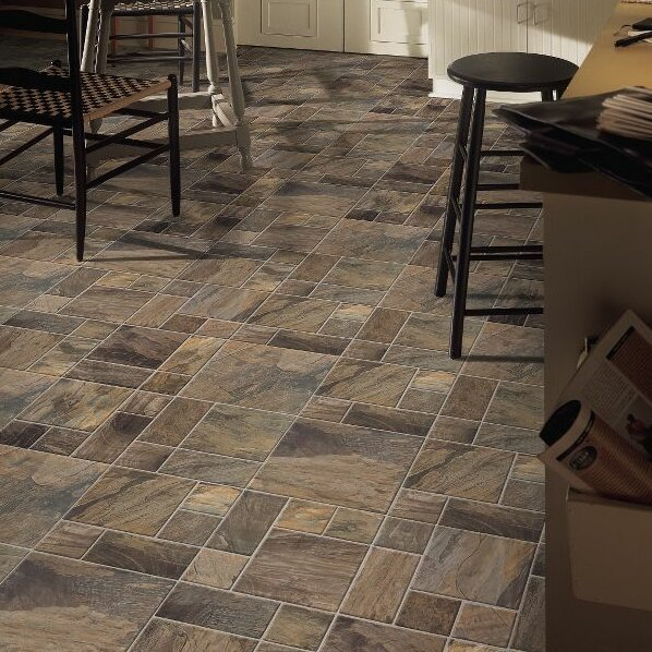 Stones and Ceramics 15.945 x 47.756 x 8mm Tile Laminate Flooring by Armstrong Flooring