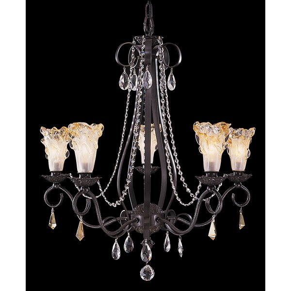 Montville 5-Light Shaded Chandelier by Fleur De Lis Living