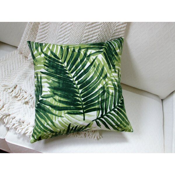 Lackey Palm Leave Indoor/Outdoor Pillow by Bayou Breeze