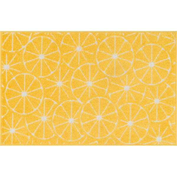 Colley-Critchlow Yellow Area Rug by Ebern Designs