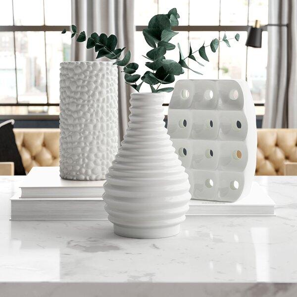 Nailsea Ceramic Vase Set (Set of 3) by Wade Logan