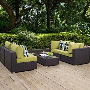Ryele 5 Piece Rattan Sectional Set with Cushions By Latitude Run