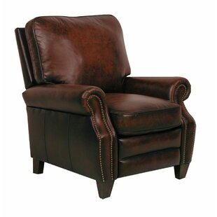 Reynold Leather Manual Recliner Canora Grey