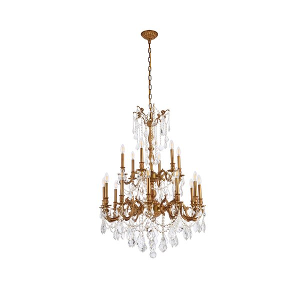 Utica 18 - Light Candle Style Tiered Chandelier With Crystal Accents By Astoria Grand