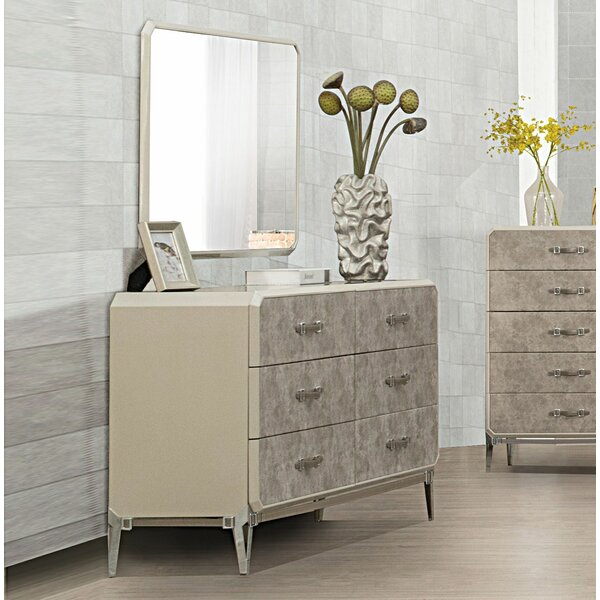 Linklater 6 Drawer Double Dresser with Mirror by Brayden Studio