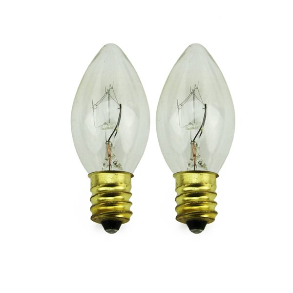 5W Candelabra Incandescent Light Bulb (Set of 2) by Northlight Seasonal