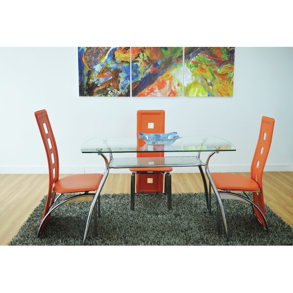 Penning Glass Top Dining Table by Ebern Designs