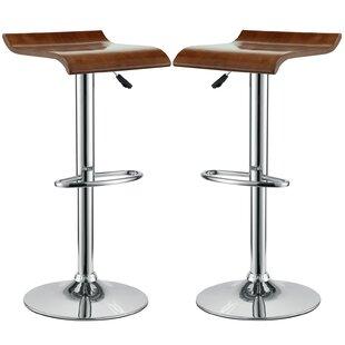 Brighton Adjustable Height Swivel Bar Stool (Set of 2) by Wade Logan