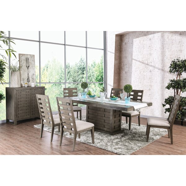 Gisla 7 Piece Extendable Dining Set by World Menagerie World Menagerie