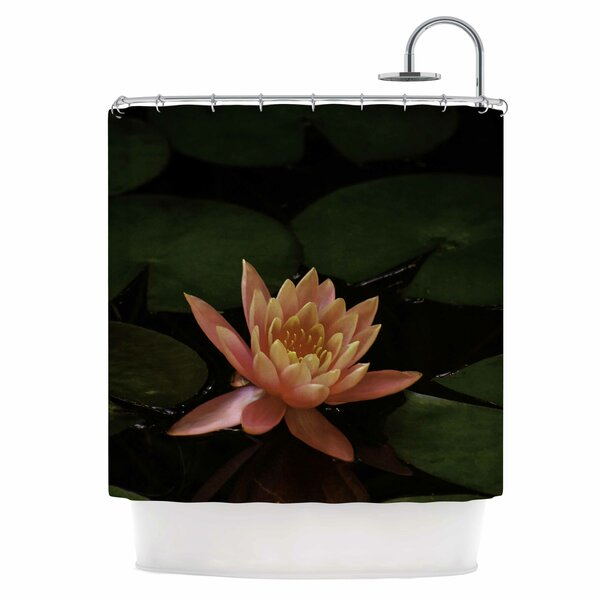 Lily Pad Flower Shower Curtain by East Urban Home