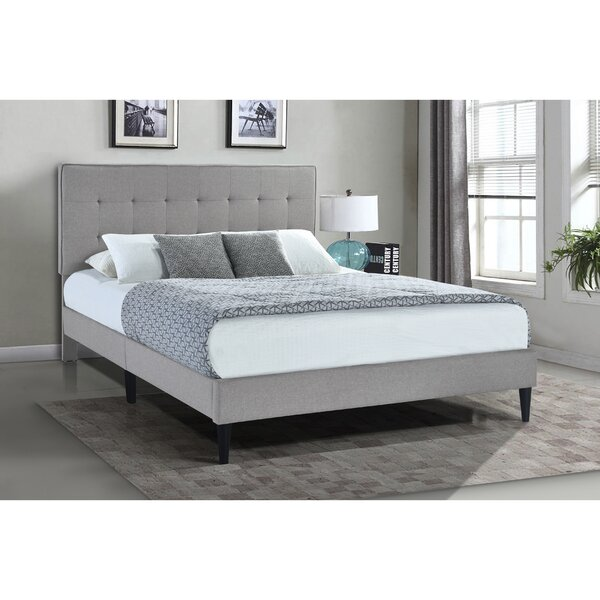 Norland Grid Tufted Upholstered Platform Bed by Latitude Run