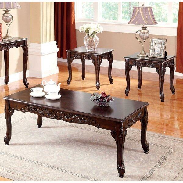 Corington 3 Piece Coffee Table Set by Fleur De Lis Living Fleur De Lis Living