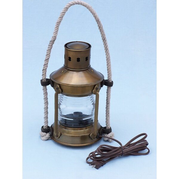 Anchor Electric Lantern by Handcrafted Nautical Decor