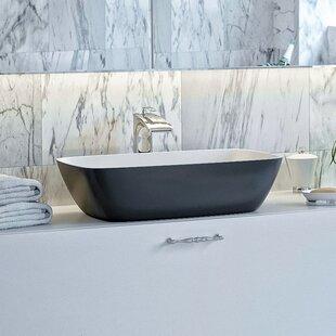 Arabella Stone Rectangular Vessel Bathroom Sink Aquatica
