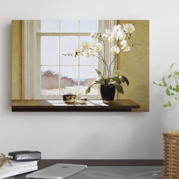 Orchids In The Window II Photographic Print on Wrapped Canvas by East Urban Home