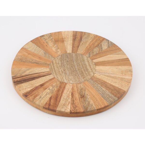 Round Multi-Wood Trivet by Union Rustic