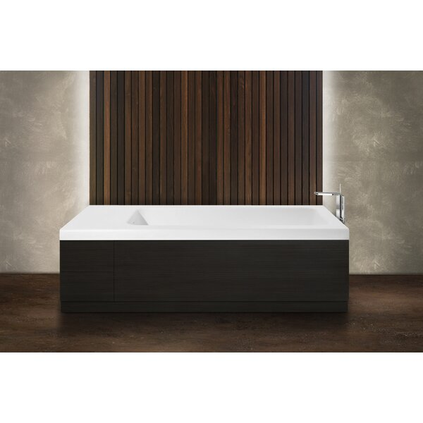 Pure 2D 82.75 x 31.5 Freestanding Soaking Bathtub by Aquatica