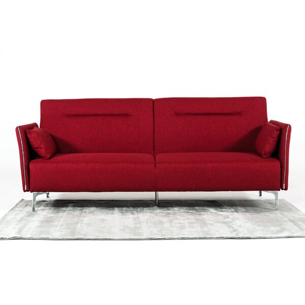 Faviola Red Sofa by Orren Ellis