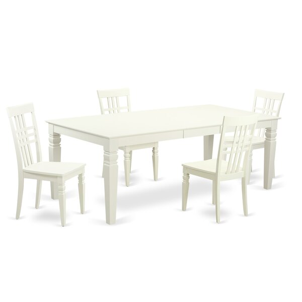 Beesley 5 Piece White Wood Dining Set by Darby Home Co