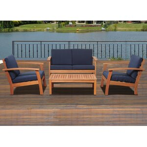 Elsmere 4 Piece Sofa Set with Cushions