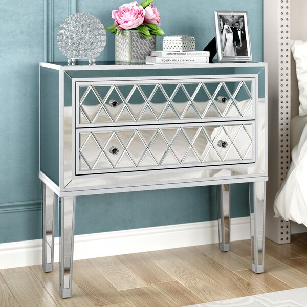 Mariaella 2 Drawer Nightstand by Rosdorf Park