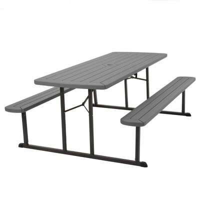 Sensational Freeport Park Adam Folding Plasticresin Picnic Table Color Gray Onthecornerstone Fun Painted Chair Ideas Images Onthecornerstoneorg