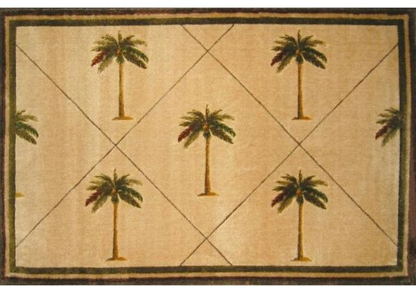 Fun Time Palm Fonds Palm Tree Novelty Rug by L.A. Rugs