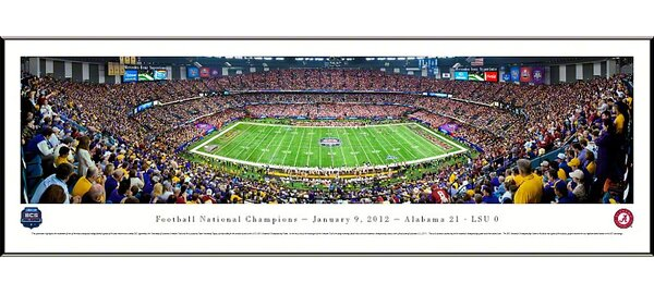 NCAA BCS Football Championship 2012 Standard Framed Photographic Print by Blakeway Worldwide Panoramas, Inc